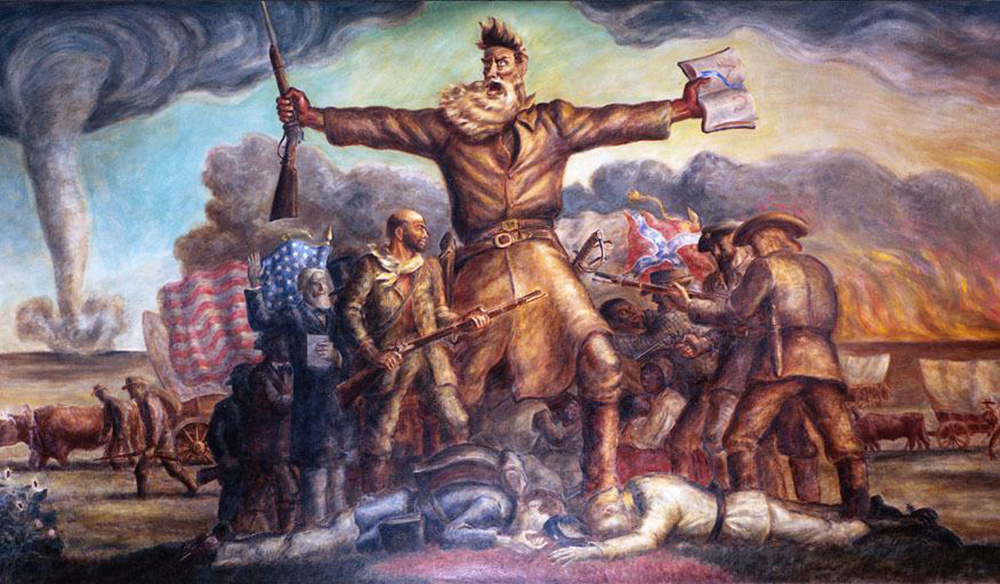 The Tragic Prelude, by John Steuart Curry, 1938. Wikimedia Commons, Kansas State Capitol.