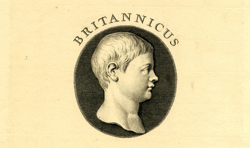Portrait of Britannicus, by Nicholas Beauvais, c. 1702. © The Trustees of the British Museum.