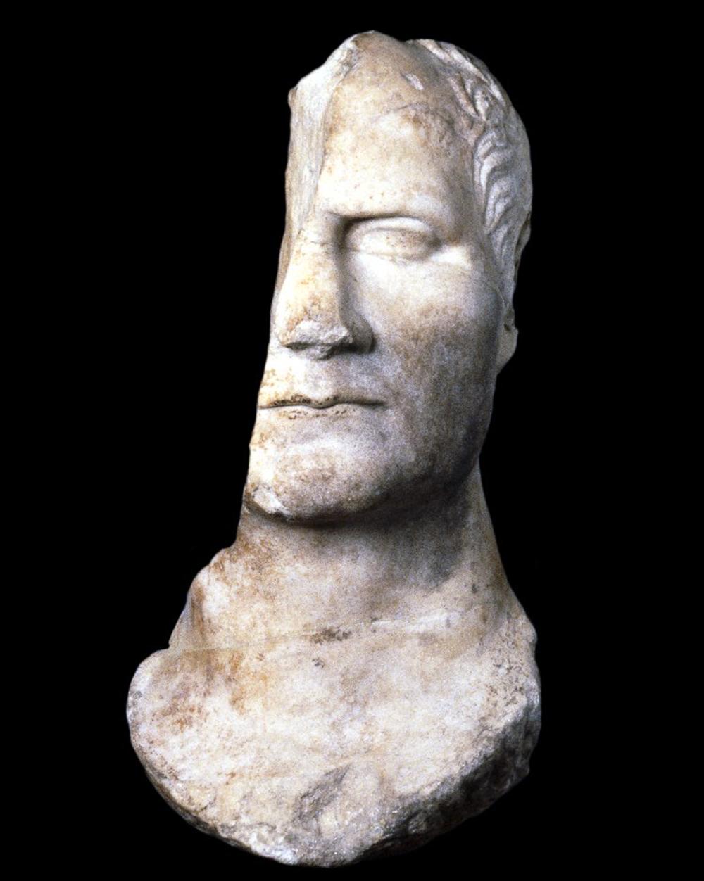 Marble portrait of Julius Caesar, c. 50. © The Trustees of the British Museum.