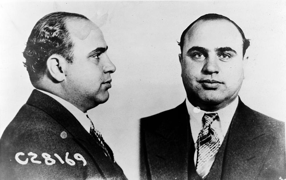 Al Capone's mug shots, 1931. U.S. Bureau of Prisons.