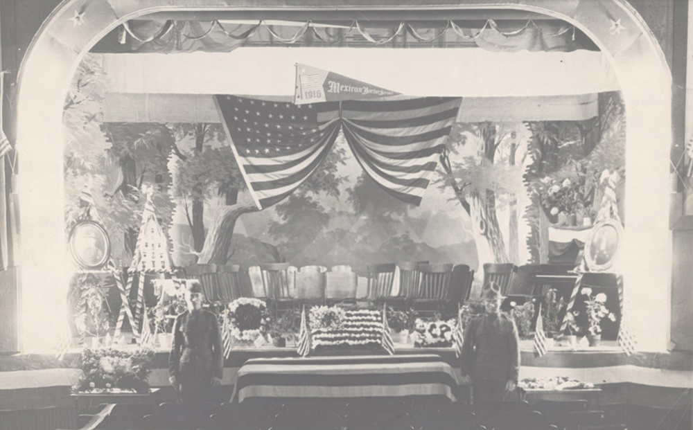 Grosvenor P. Cather's funeral service, 1921. Nebraska State Historical Society, Willa Cather Pioneer Memorial and Educational Foundation.