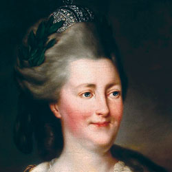 A painting of Catherine the Great.