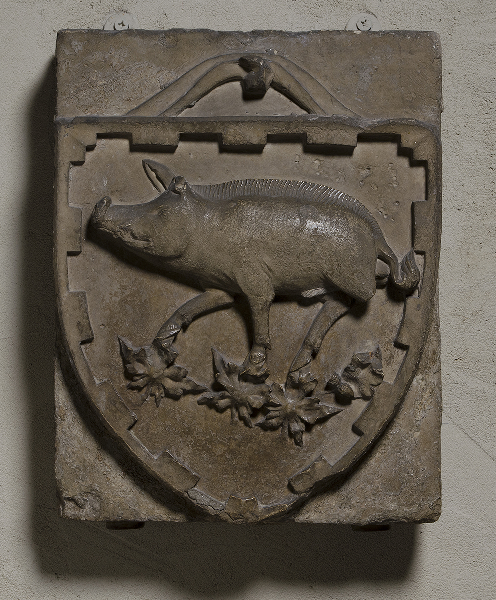 Coat of arms, France, late thirteenth or early fourteenth century.