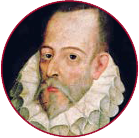 A painting of Cervantes.