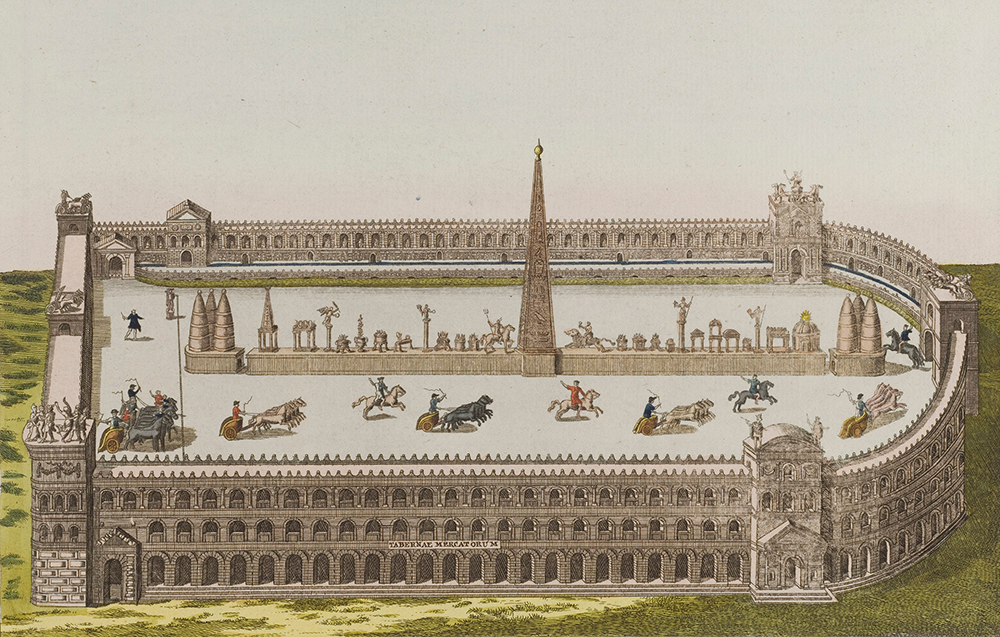 A Roman circus with a chariot race, by Robert von Spalart. Wellcome Collection.