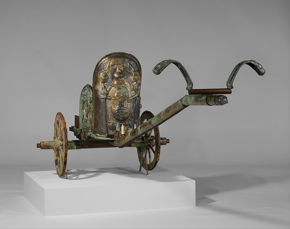 Bronze chariot inlaid with ivory. The Metropolitan Museum of Art, Rogers Fund, 1903.
