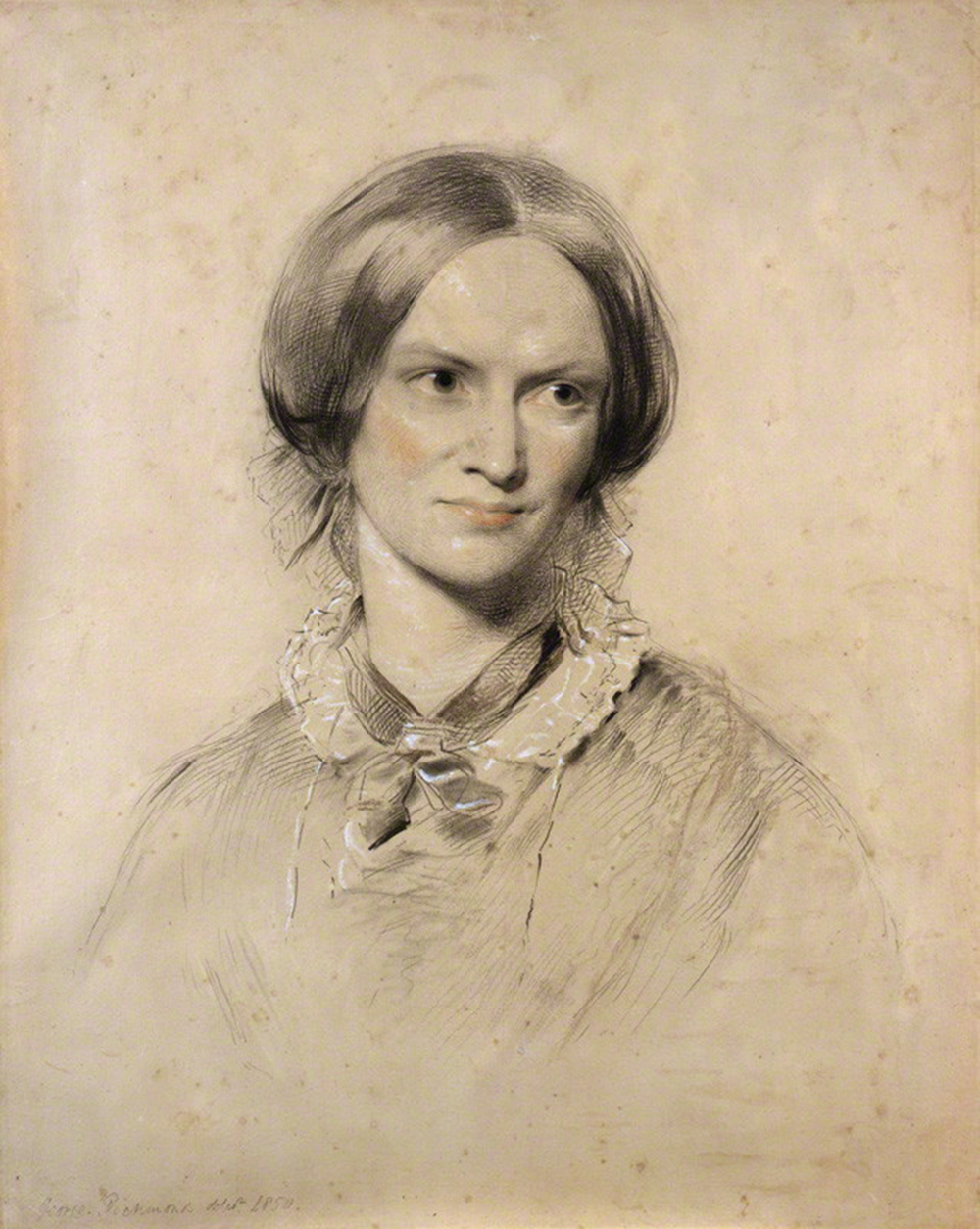 Charlotte Brontë, chalk drawing by George Richmond, 1850. © National Portrait Gallery, London.