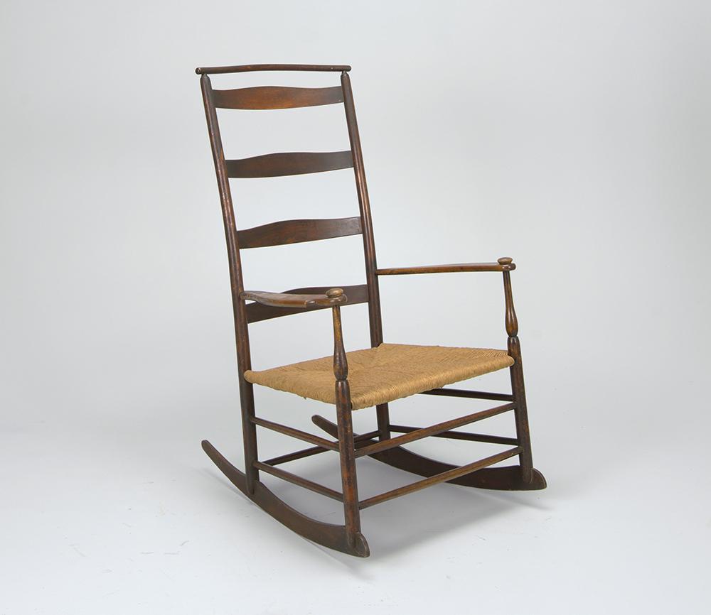 Shaker rocking chair, c. 1878.