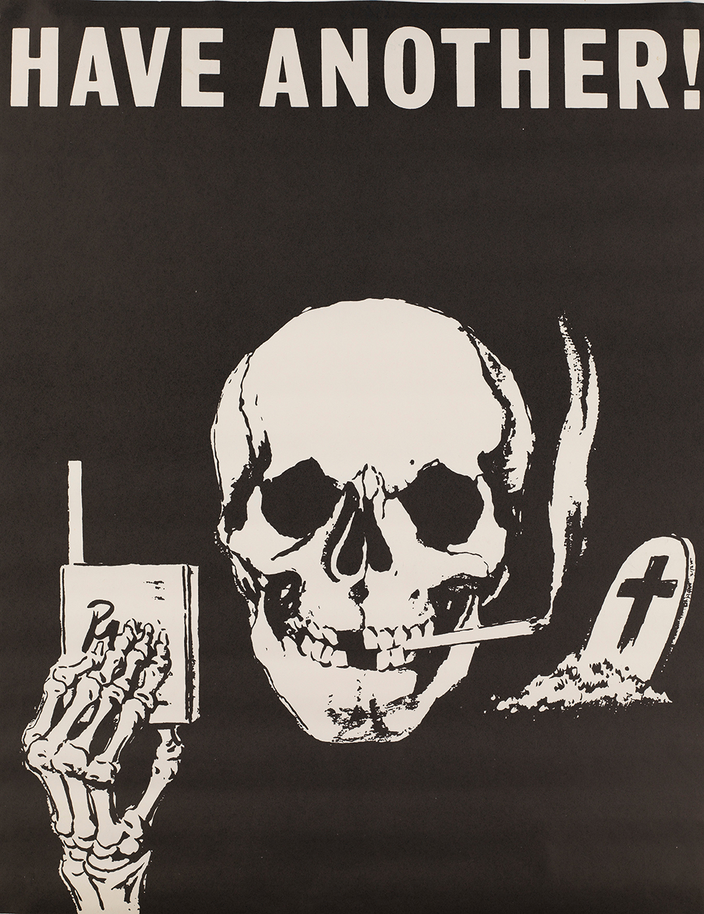 An anti-smoking poster. Wellcome Collection.