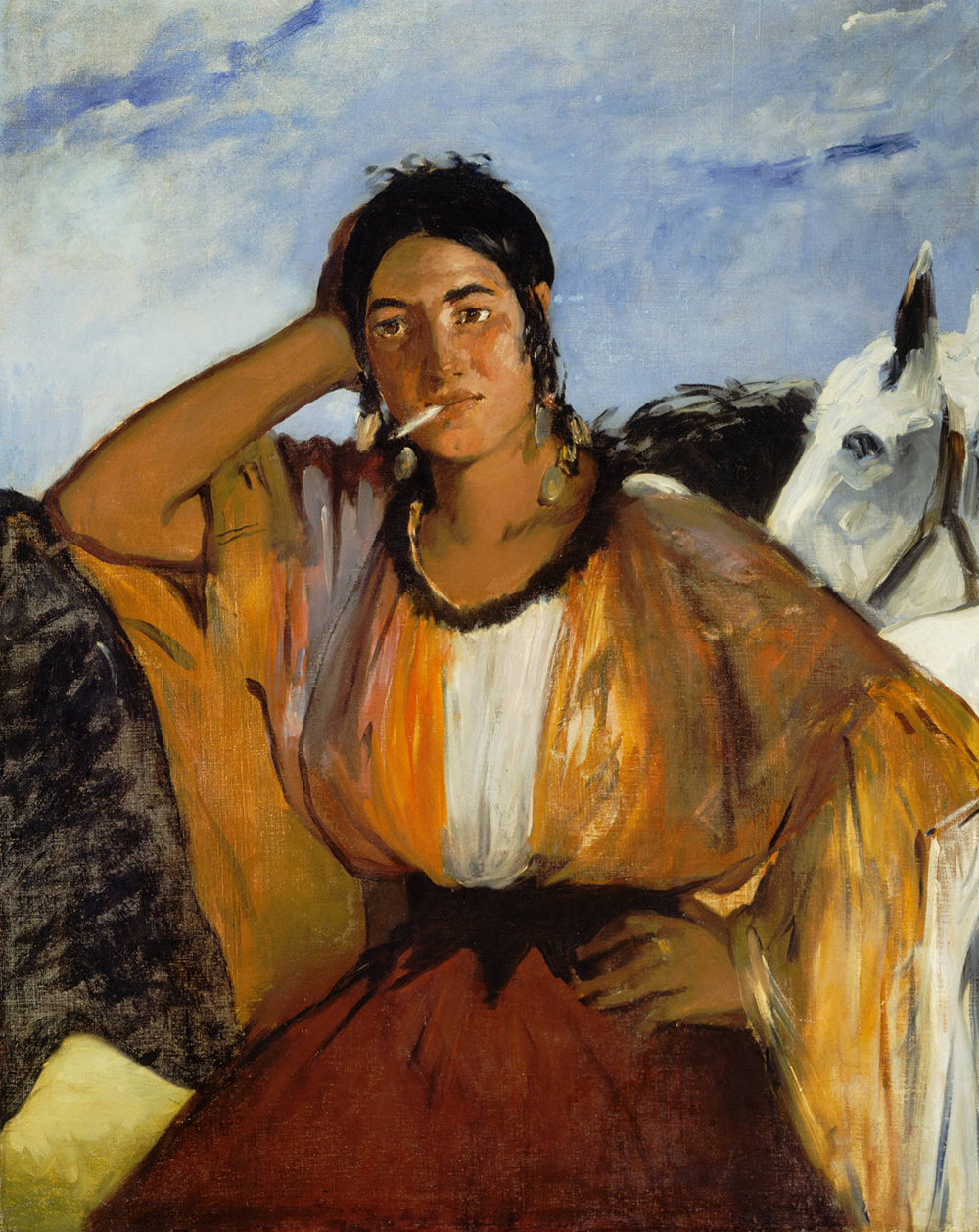 Gypsy with a Cigarette, by Édouard Manet. Princeton University Art Museum.