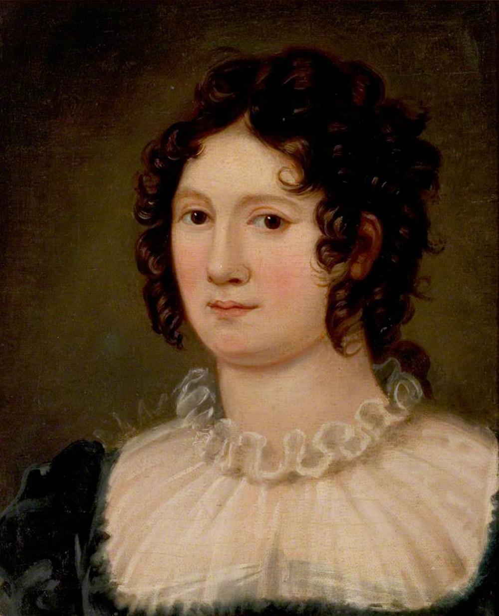 Portrait of Claire Clairmont, by Amelia Curran, c. 1819.