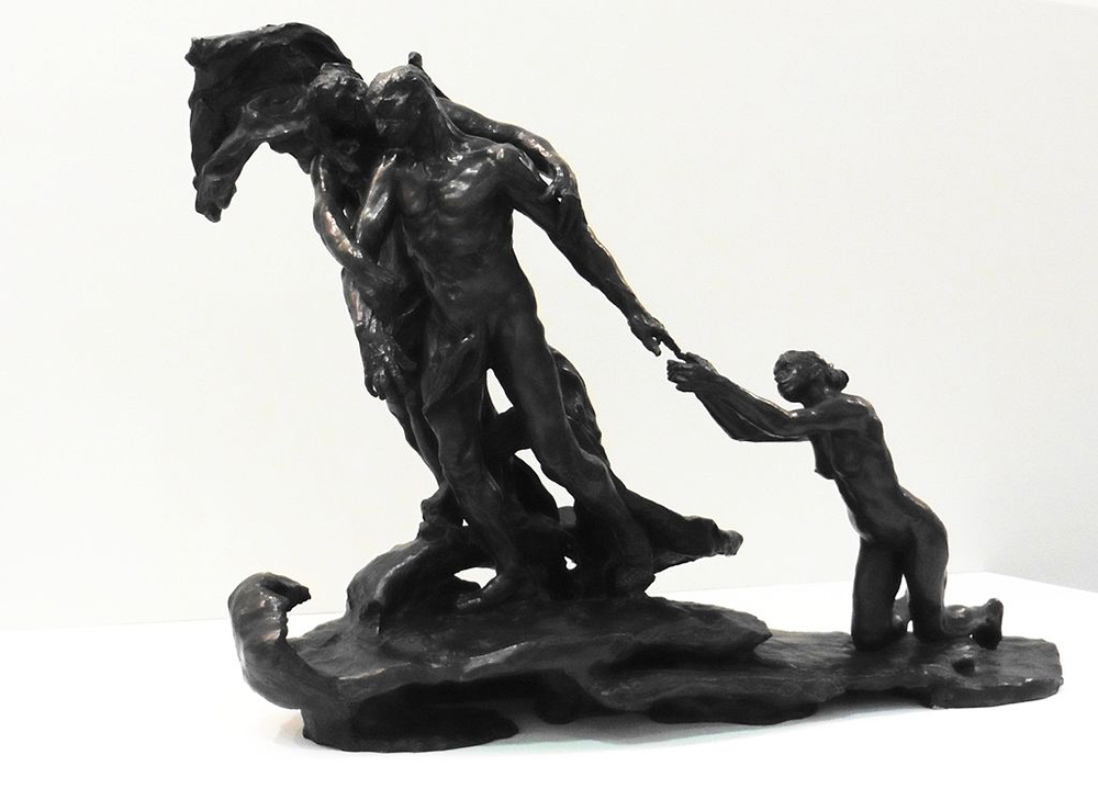 """L'âge mûr ou La destinée"" (The Age of Maturity), by Camille Claudel, 1899."
