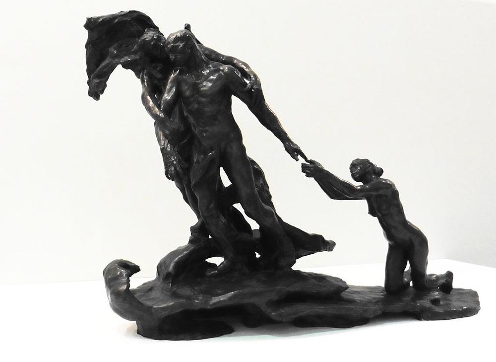 """""""L'âge mûr ou La destinée"""" (The Age of Maturity), by Camille Claudel, 1899."""