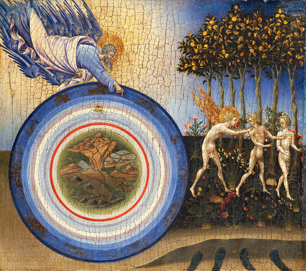The Creation of the World and the Expulsion from Paradise, by Giovanni di Paolo, 1445. The Metropolitan Museum of Art, Robert Lehman Collection, 1975.