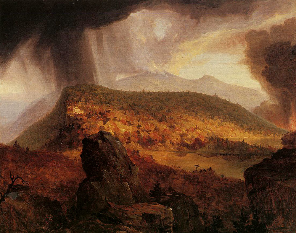 Catskill Mountain House: The Four Elements, by Thomas Cole, 1843.