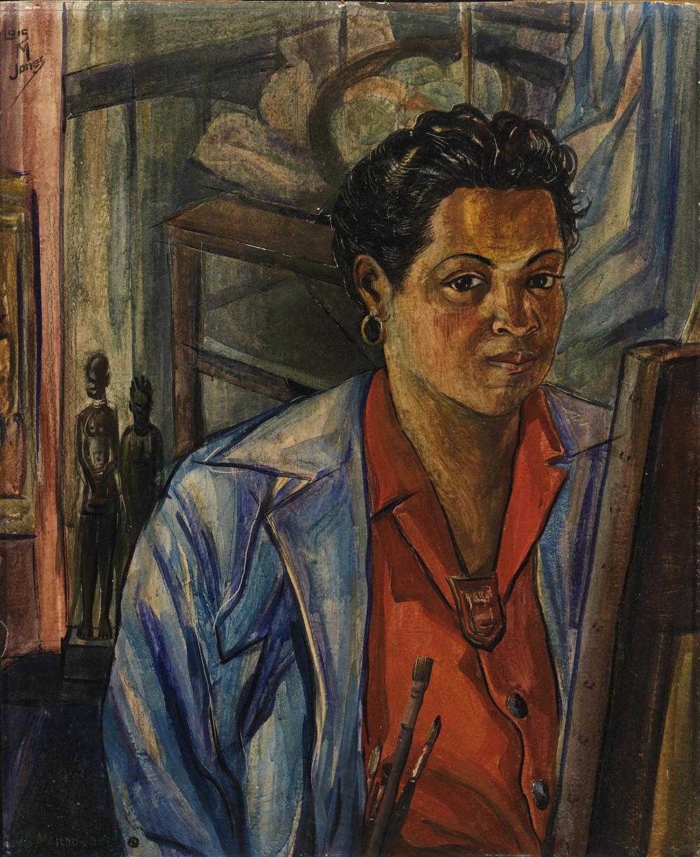 Self Portrait, by Loïs Mailou Jones, 1940. Smithsonian American Art Museum, Bequest of the artist.