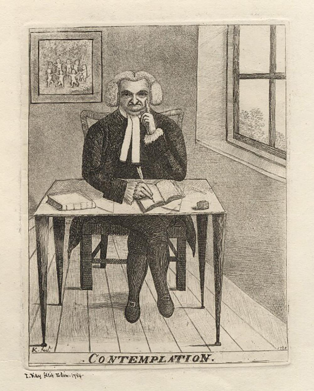 Contemplation (James Burnett, Lord Monboddo), by John Kay, 1784.