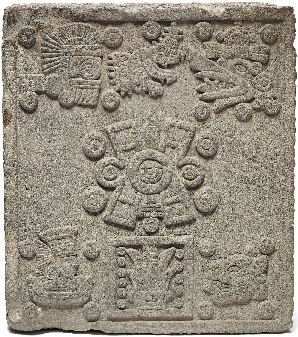 Coronation Stone of Moctezuma II (Stone of the Five Suns), Mexico, 1503. Art Institute of Chicago, Major Acquisitions Fund.