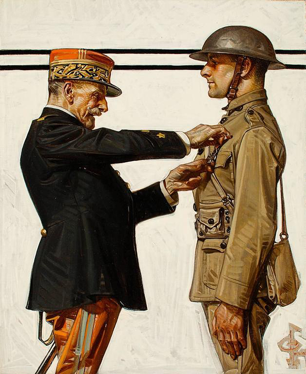 Croix de Guerre, by J.C. Leyendecker, from The Saturday Evening Post, 1918.