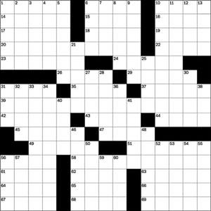 A crossword puzzle.