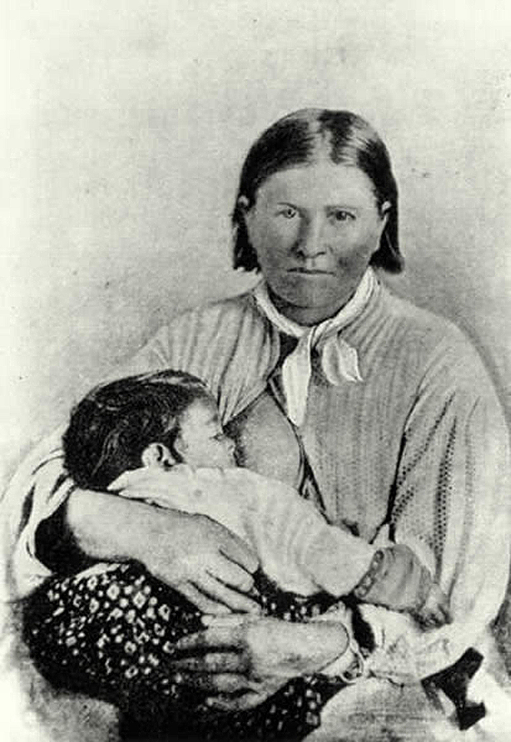 Photograph of Cynthia Ann Parker, c. 1860. Wikimedia Commons.