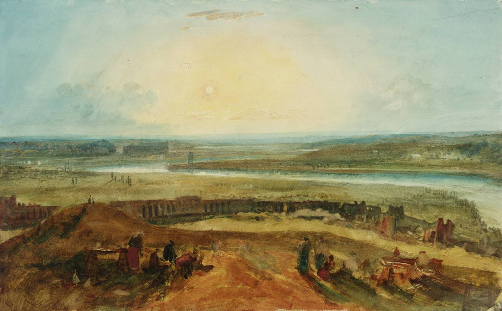 The Roman Campagna from Monte Testaccio, Sunset, by J.M.W. Turner, 1819.