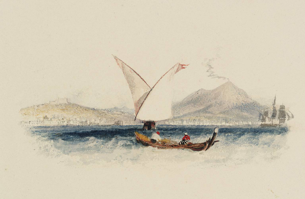 Bay of Naples, for Rogers' Italy, by J.M.W. Turner, 1826. Photograph © Tate (CC-BY-NC-ND 3.0).