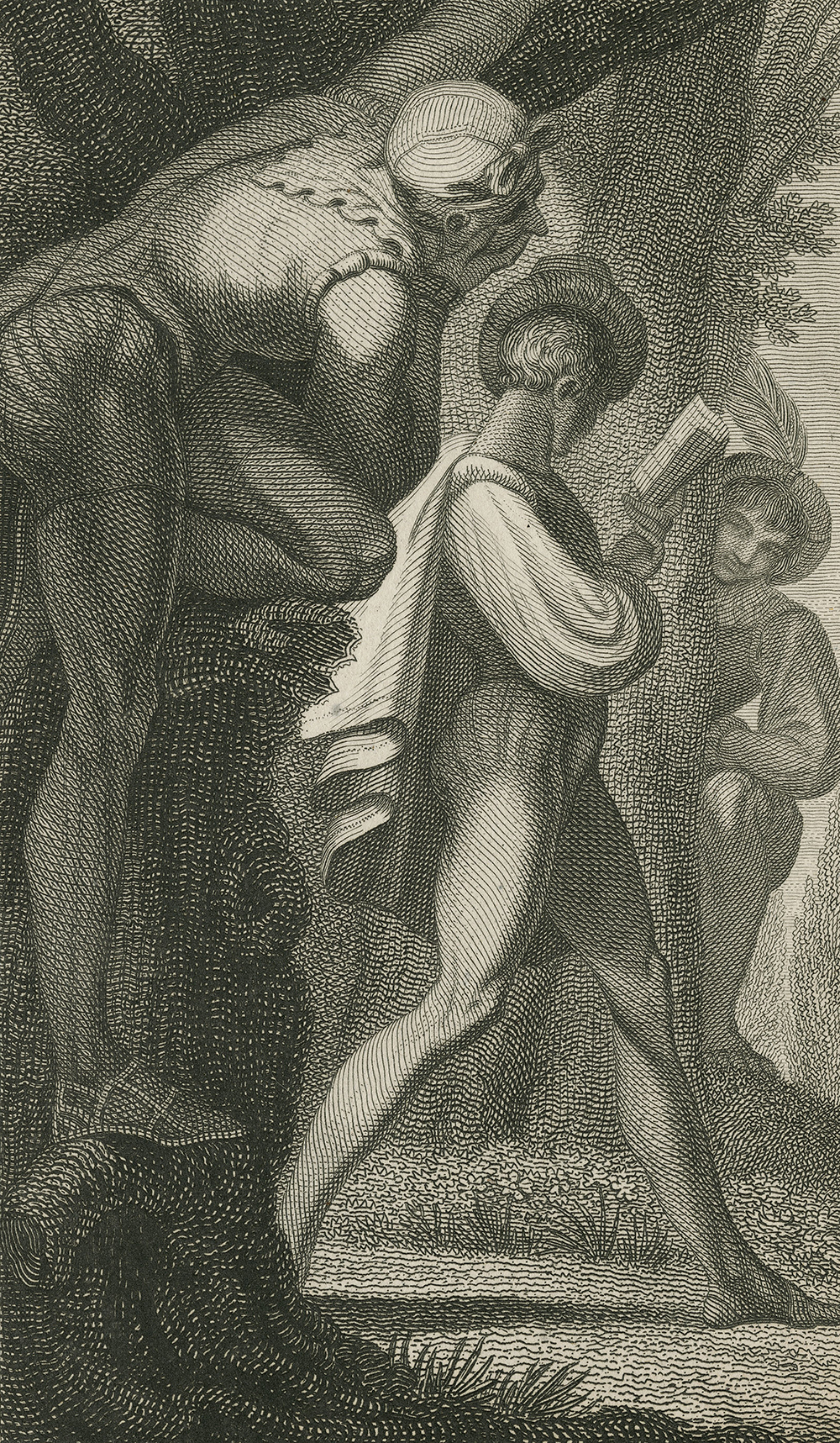 """Scene from """"Love's Labour Lost,"""" act 4, scene 3. Folger Shakespeare Library."""