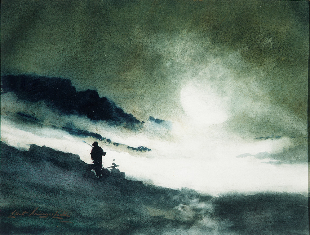 Moon Rising over Fog Clouds, painting by Elliott Daingerfield. The Metropolitan Museum of Art, Gift of A.W. Bahr, 1958.