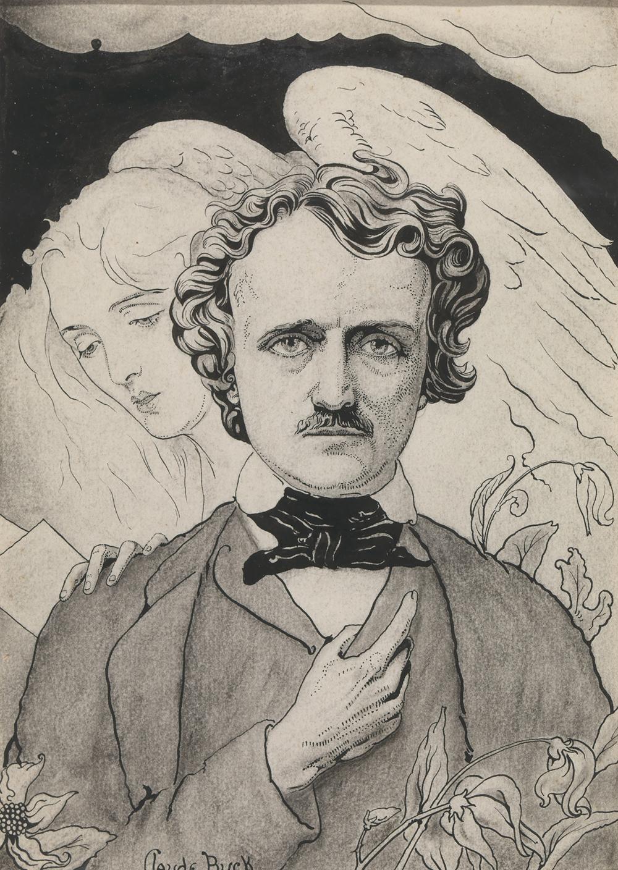 Illustration of Edgar Allan Poe, by Claude Buck, c. 1915. Smithsonian American Art Museum, Gift of Mrs. Claude Buck, 1983.