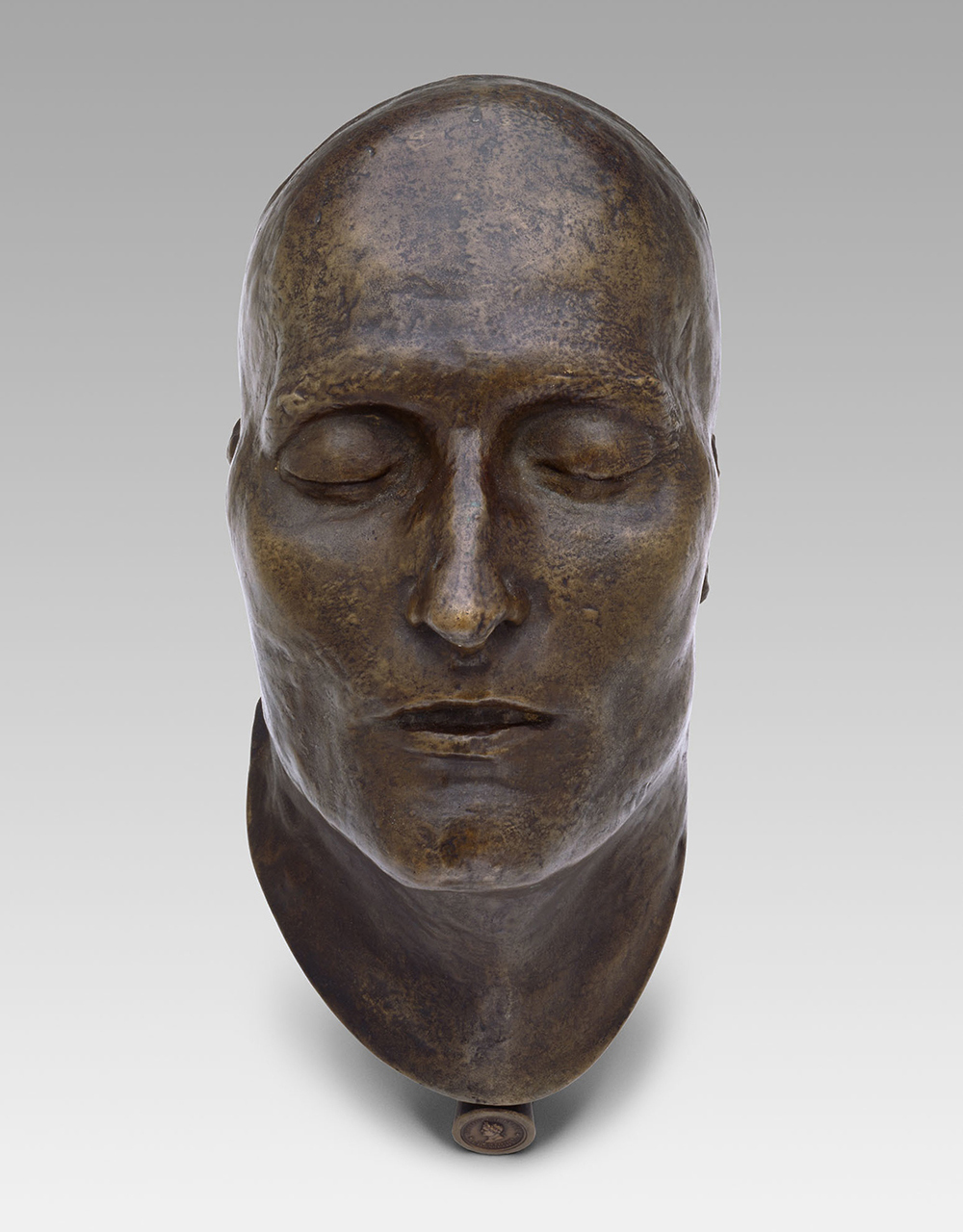 Death mask of Napoleon by Dr. C. Francesco Antommarchi and Louis Richard and E. Quesnel, modeled in 1821 and cast in 1833. The Art Institute of Chicago, Estate of E. Blake Blair.