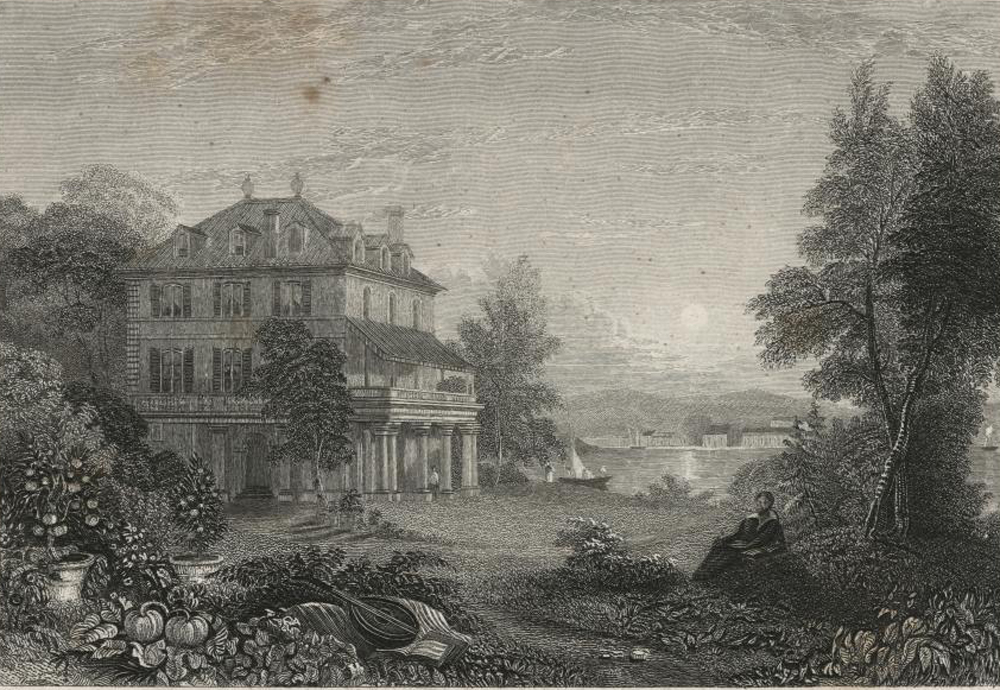 Villa Diodati, the residence of Lord Byron in Switzerland, by Edward Finden, 1832. New York Public Library.