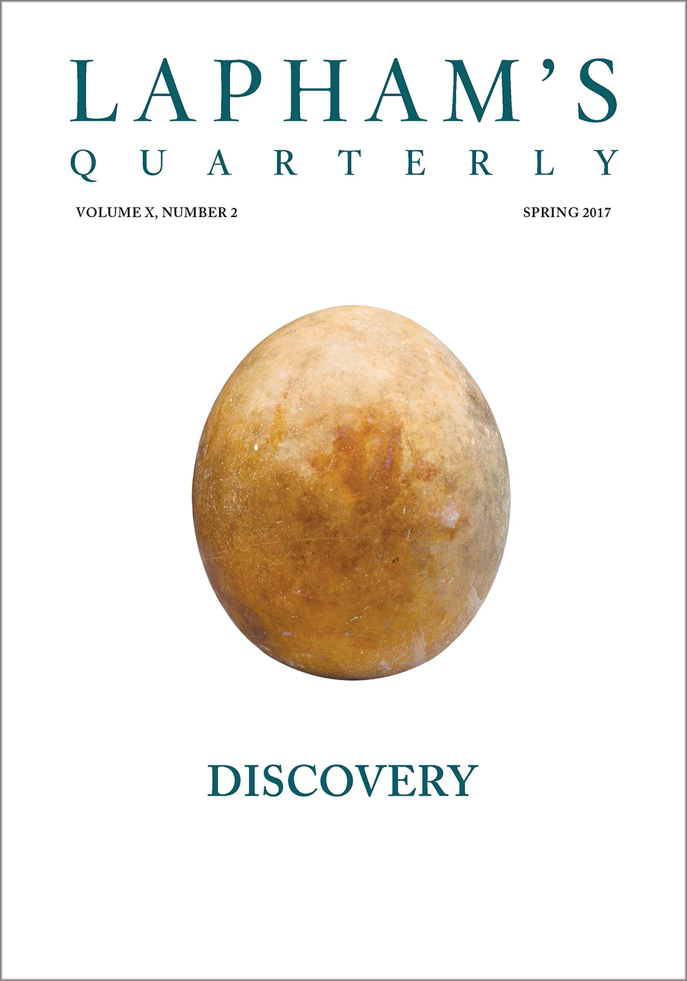 Discovery, the Spring 2017 issue of Lapham's Quarterly.