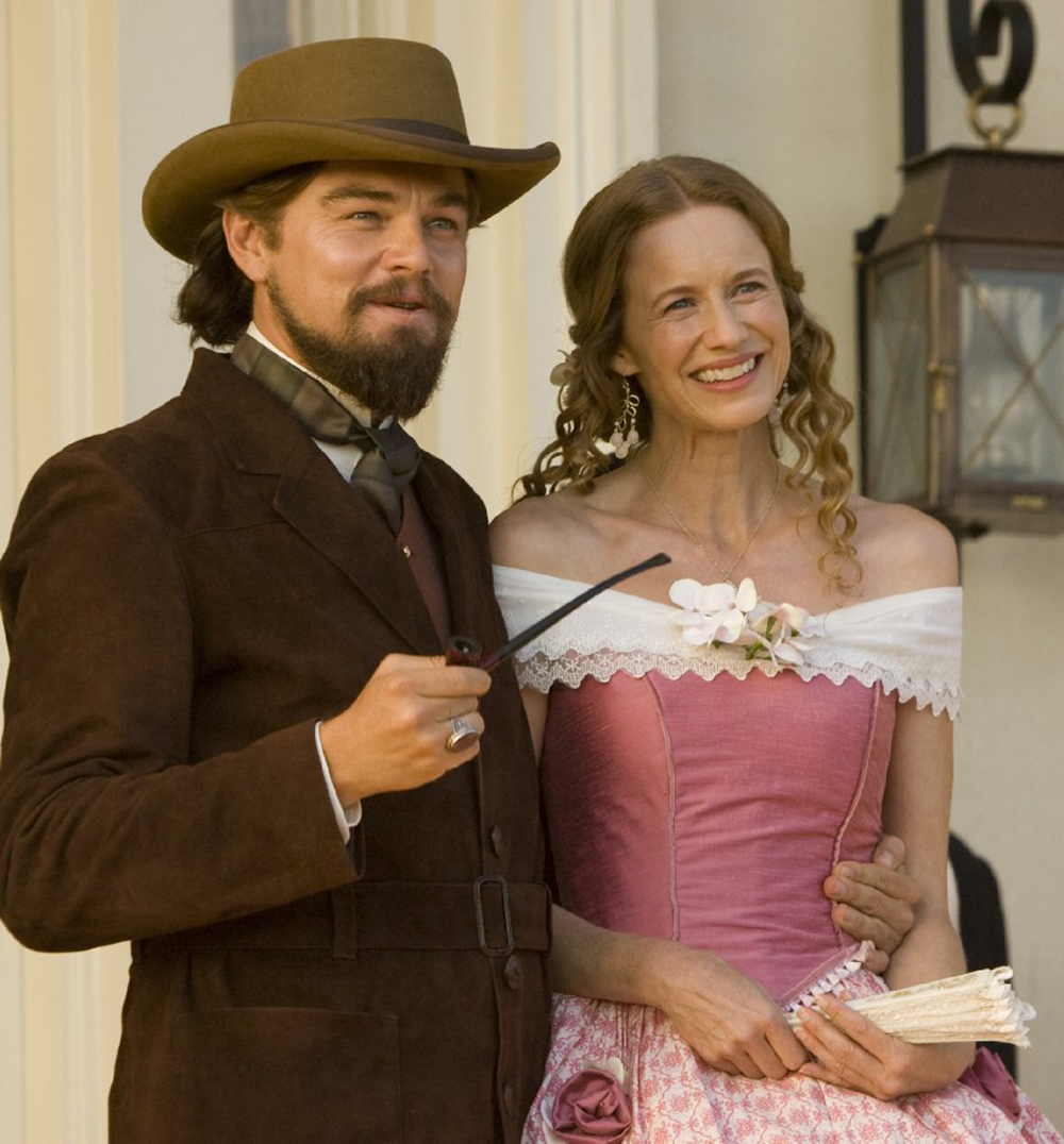 """Leonard DiCaprio and Laura Cayouette in """"Django Unchained"""" (2012). The Weinstein Company."""