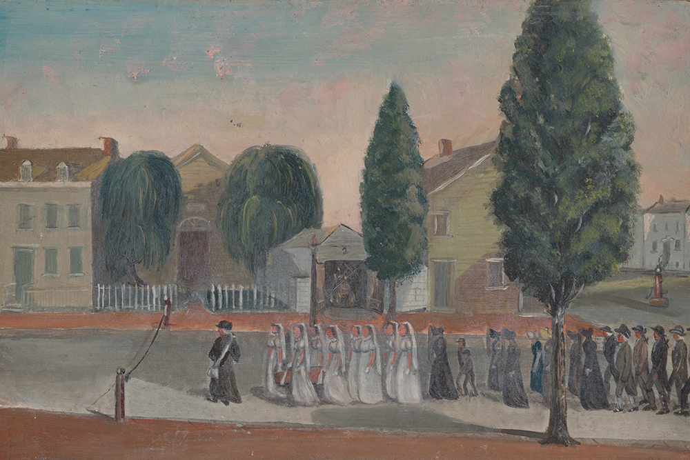 Infant Funeral Procession, by William P. Chappel, c. 1870. The Metropolitan Museum of Art, Edward W.C. Arnold Collection of New York Prints, Maps, and Pictures, bequest of Edward W.C. Arnold, 1954.