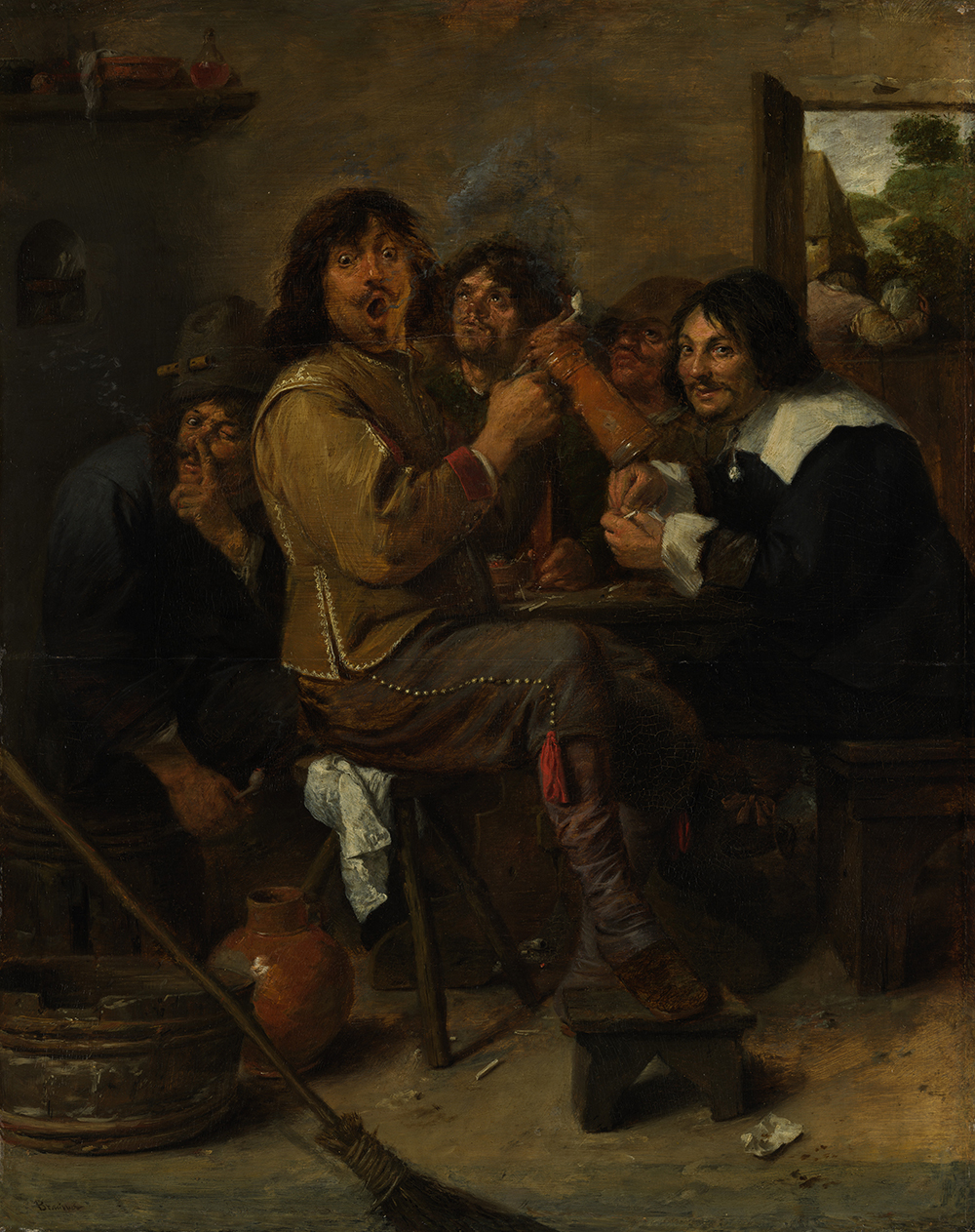 The Smokers, by Adriaen Brouwer, c. 1636.