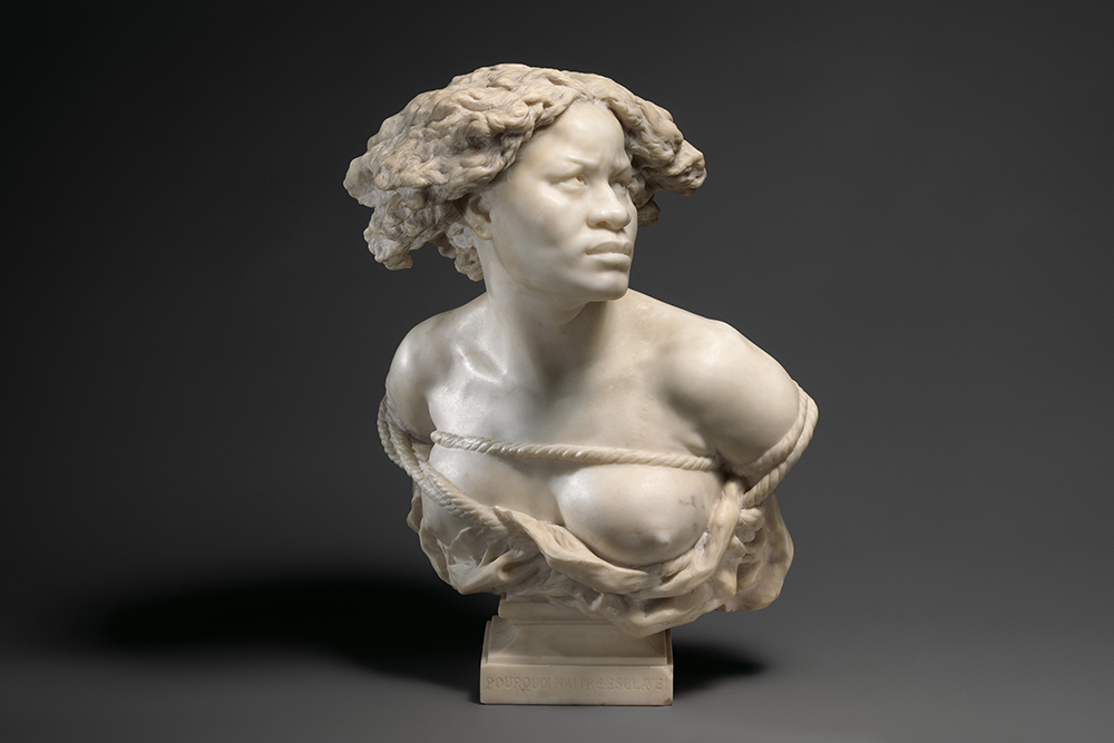 Why Born Enslaved!, by Jean-Baptiste Carpeaux, 1873. The Metropolitan Museum of Art, Purchase, The Wallace Foundation, Wrightsman Fellows Gifts, and Iris and B. Gerald Cantor Foundation Gift, 2019.