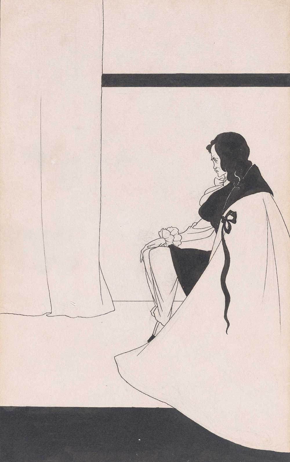 The Fall of the House of Usher, by Aubrey Beardsley, 1894.