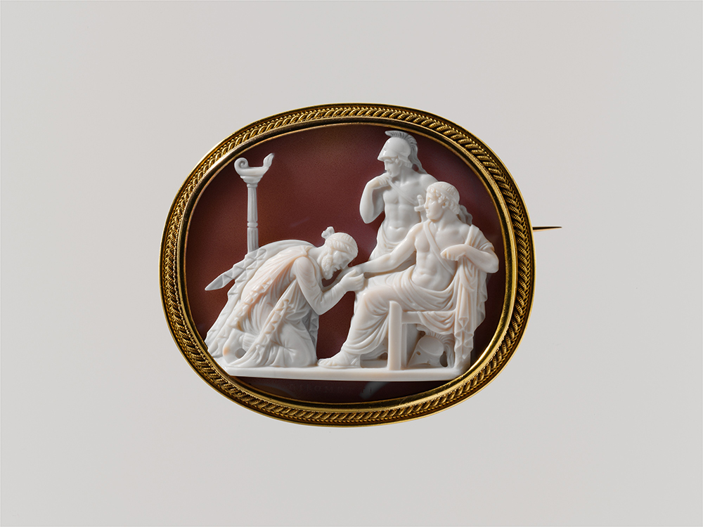 """Priam Supplicating Achilles for the Body of Hector,"" by Giuseppe Girometti, c. 1815. The Metropolitan Museum of Art, The Milton Weil Collection, 1940."