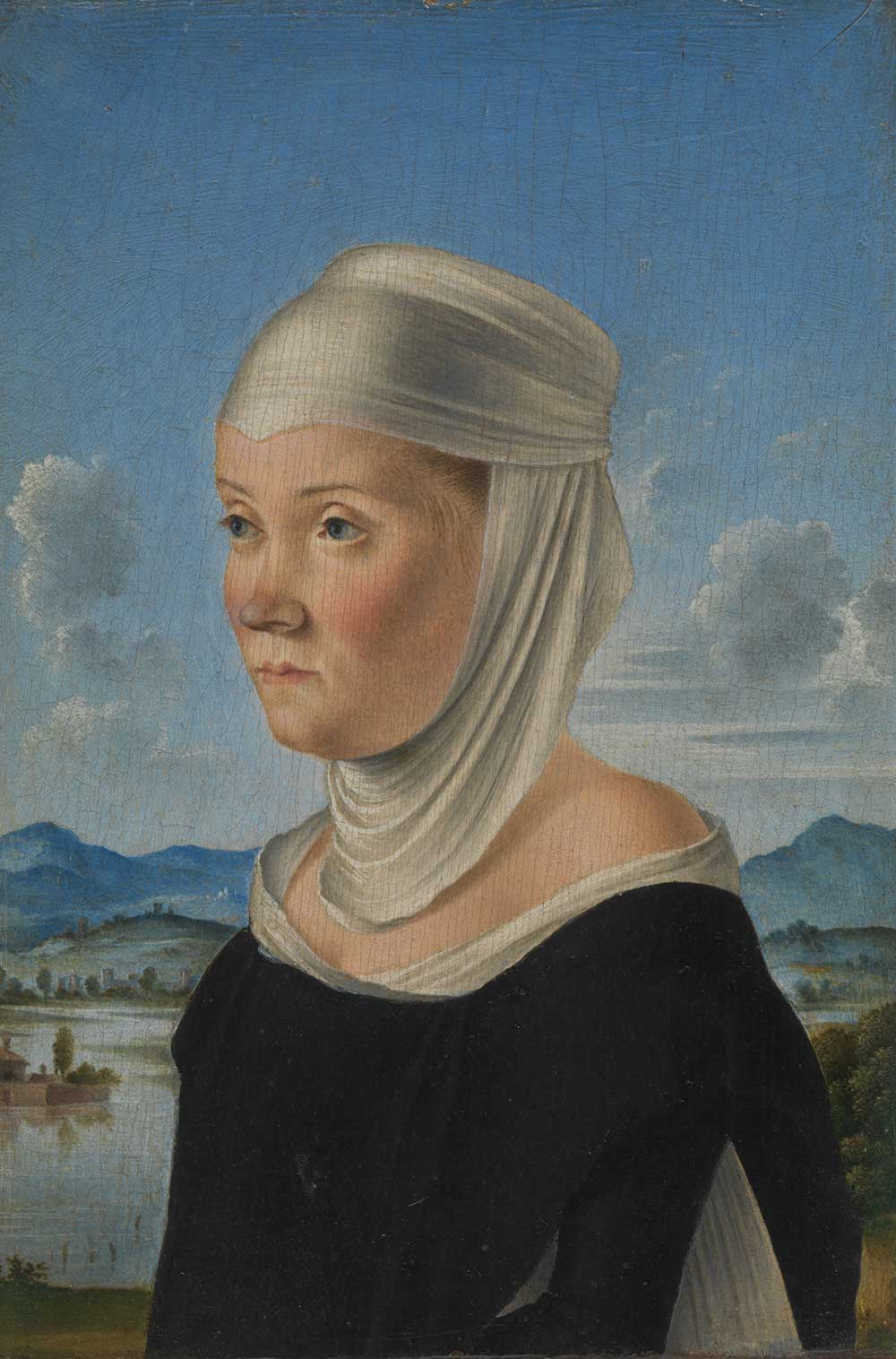 Portrait of a Woman, Possibly a Nun of San Secondo, by Jacometto, c. 1485.