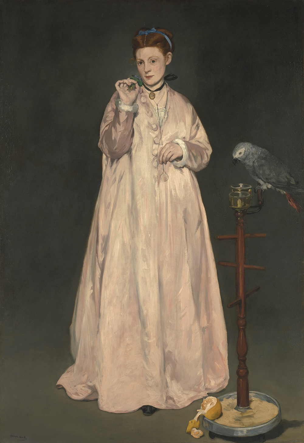 Young Lady in 1866, by Édouard Manet, 1866. The Metropolitan Museum of Art, Gift of Erwin Davis, 1889.