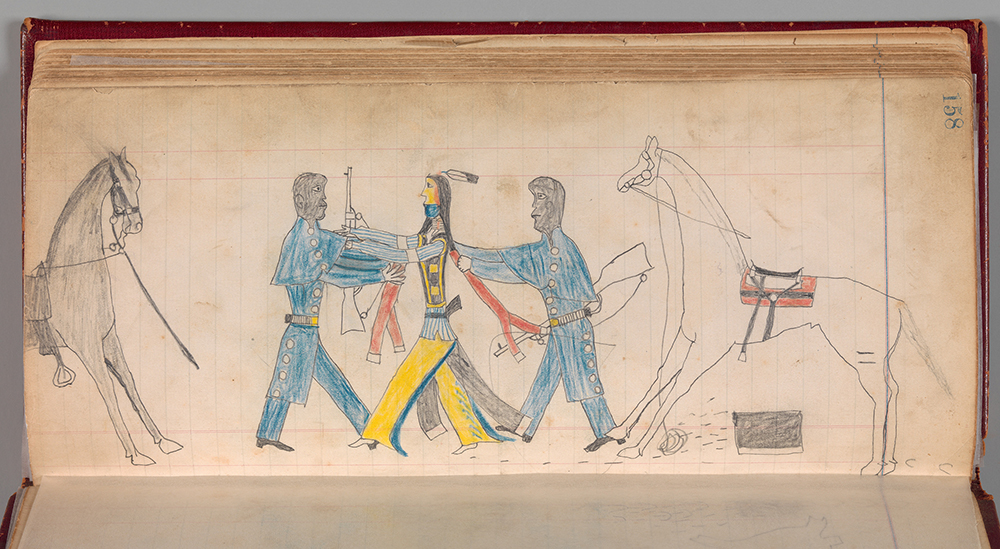 Maffet Ledger: Black Cavalry Officers and Indian, Southern and Northern Cheyenne, c. 1874.