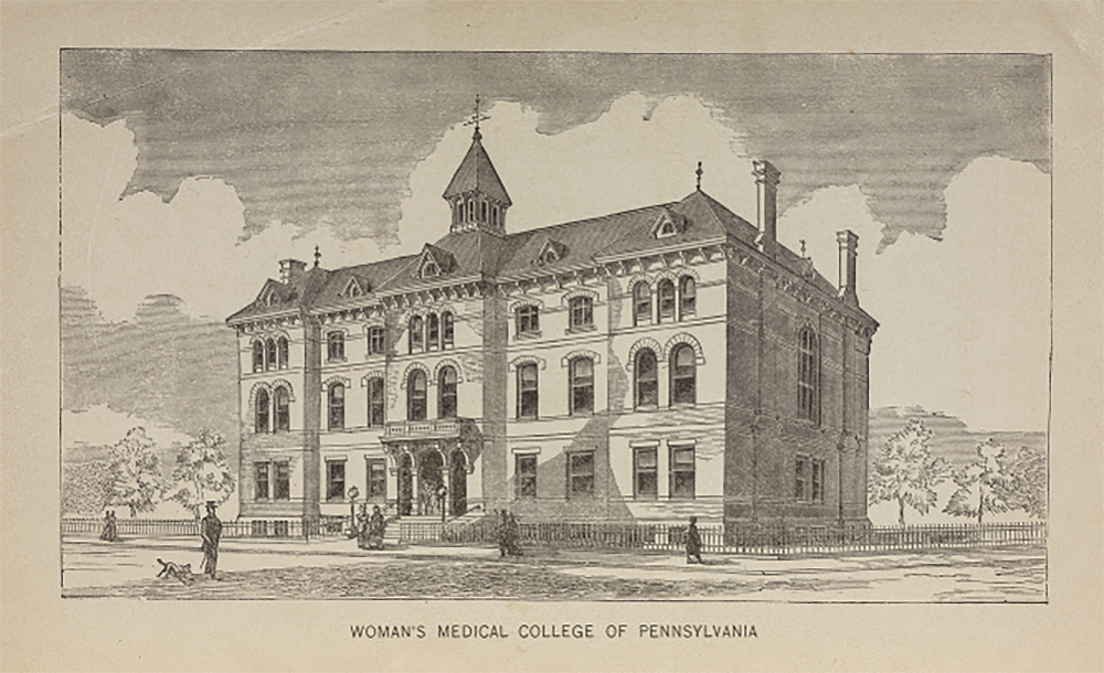 Engraving of the Woman's Medical College of Pennsylvania. American Antiquarian Society.