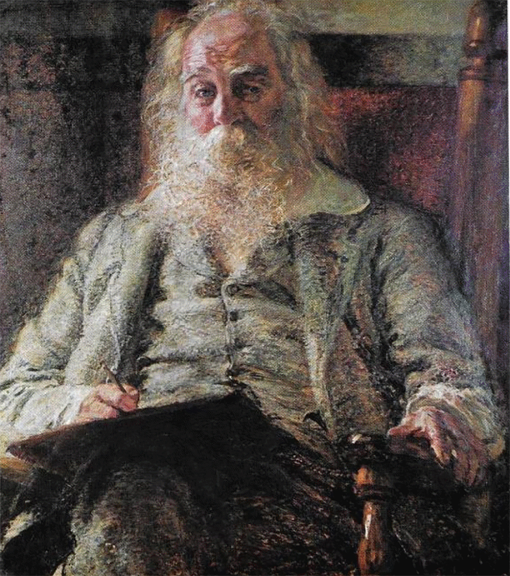 Walt Whitman, by Herbert Harlakenden Gilchrist, c. 1888. University of Pennsylvania, Kislak Center for Special Collections, Rare Books, and Manuscripts.