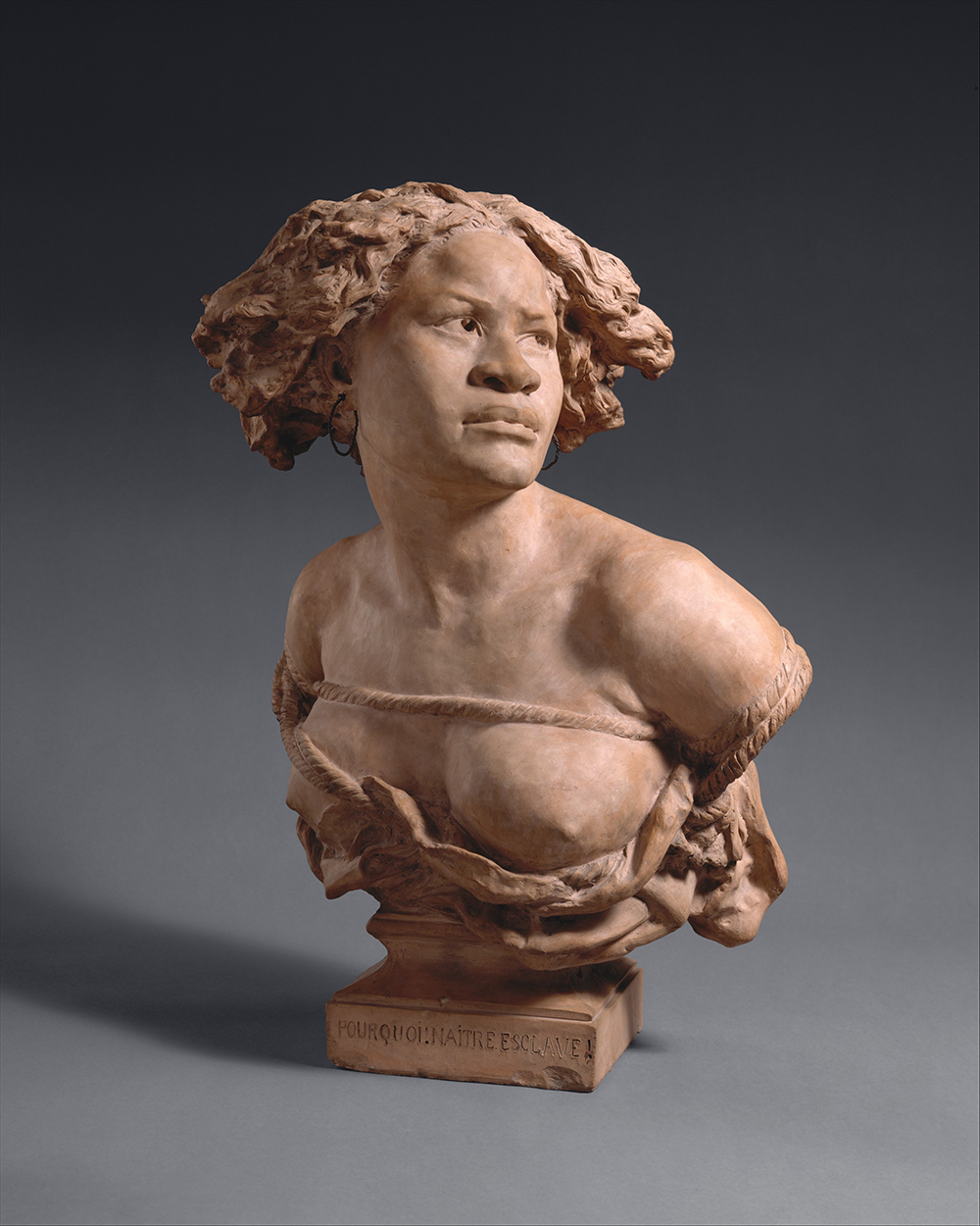Why Born Enslaved!, by the workshop of Jean-Baptiste Carpeaux, 1872. The Metropolitan Museum of Art, Gift of James S. Deely, 1997, in memory of Patricia Johnson Deely, 1997.