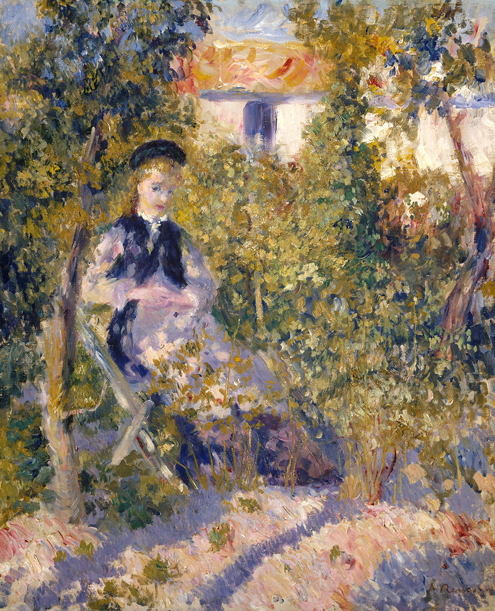 """Nini in the Garden,"" by Auguste Renoir, 1876. The Metropolitan Museum of Art, The Walter H. and Leonore Annenberg Collection, Gift of Walter H. and Leonore Annenberg, 2002, Bequest of Walter H. Annenberg, 2002."