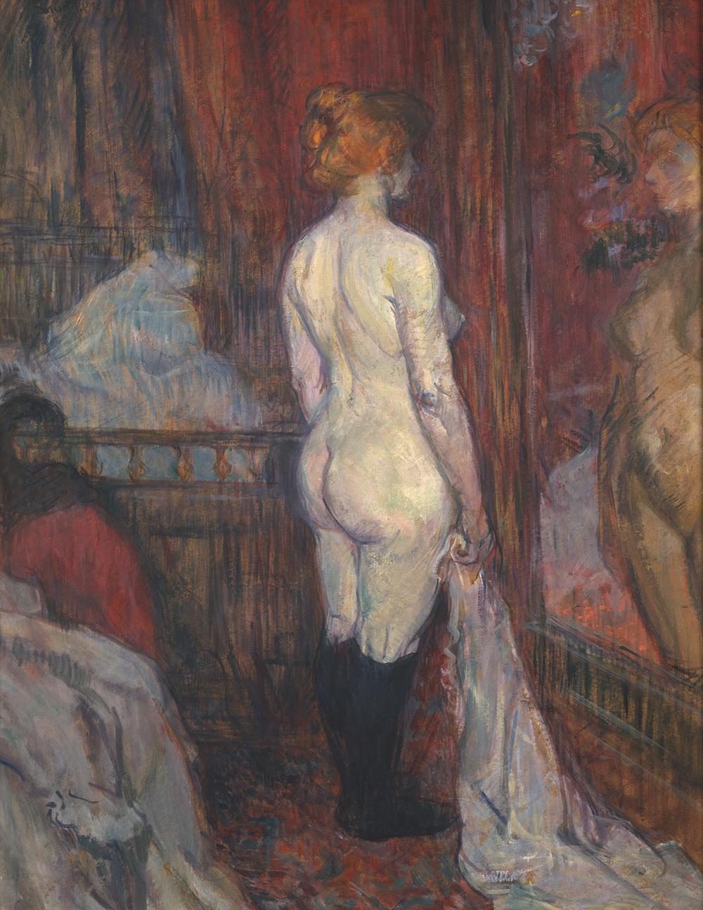 Woman Before a Mirror, by Henri de Toulouse-Lautrec, 1897.