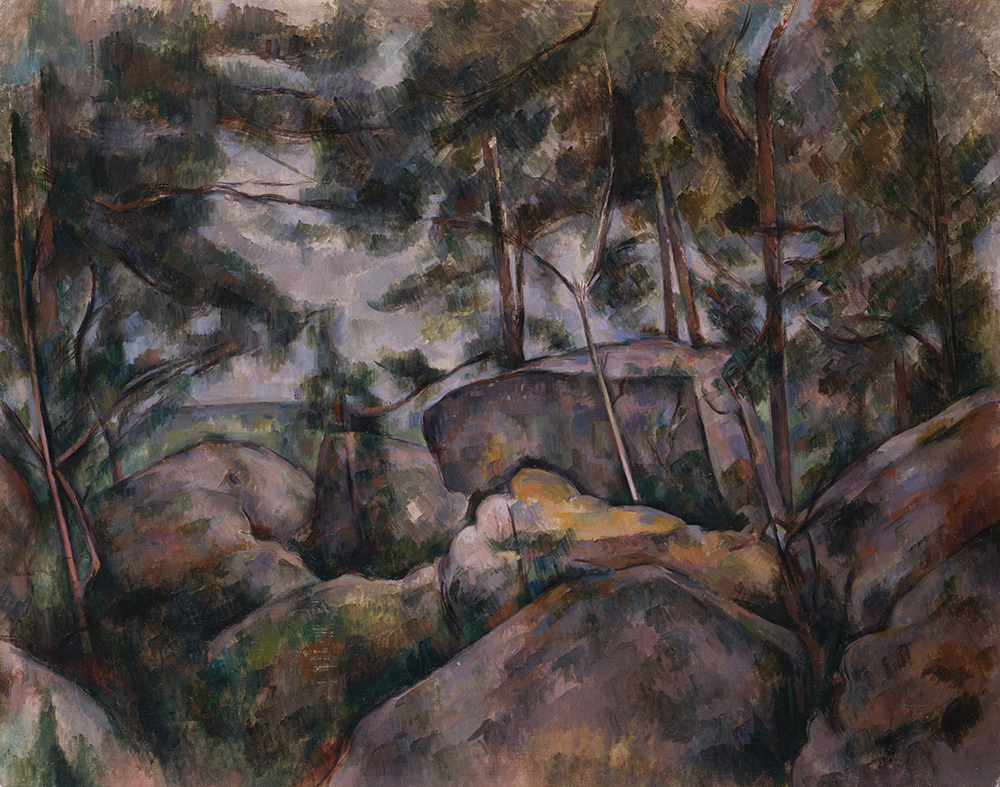 """Rocks in the Forest,"" by Paul Cézanne, c. 1890. The Metropolitan Museum of Art, H.O. Havemeyer Collection, Bequest of Mrs. H.O. Havemeyer, 1929."