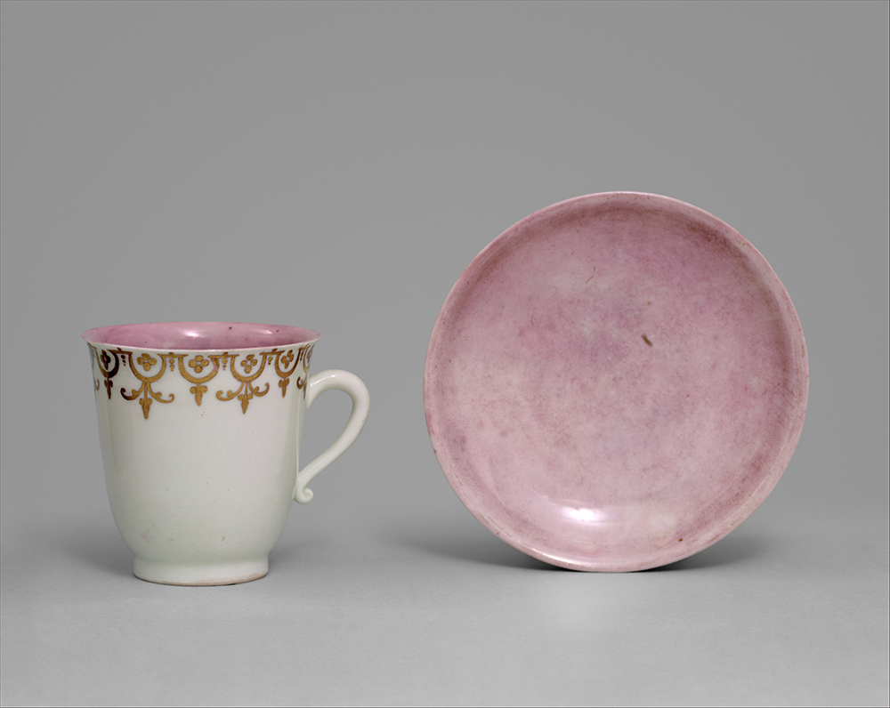 Cup and saucer, by the Meissen Manufactory, c. 1717.