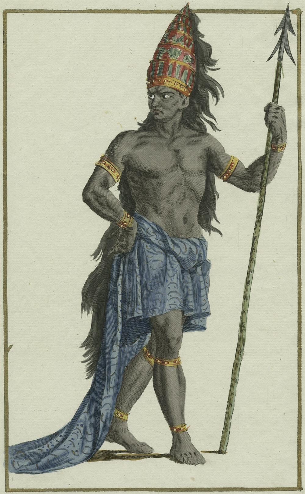 João I of Kongo, or Nzinga a Nkuwu, by Pierre Duflos, nineteenth century. The New York Public Library, Schomburg Center for Research in Black Culture, Photographs and Prints Division.